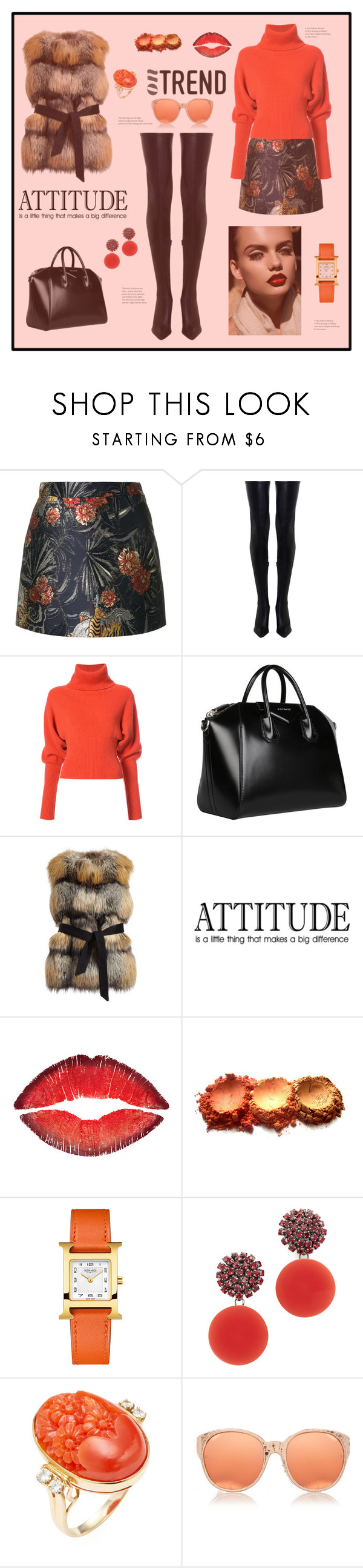 """""""On trend"""" by zabead ❤ liked on Polyvore featuring P.A.R.O.S.H., Zimmermann, Creatures of the Wind, Givenchy, Gorski, Hermès, Marni and Linda Farrow"""