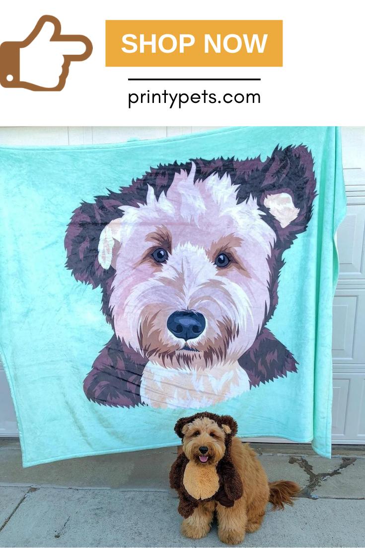 Custom Pet Print Fleece Blanket Puppy Beds Pets Fleece Blanket