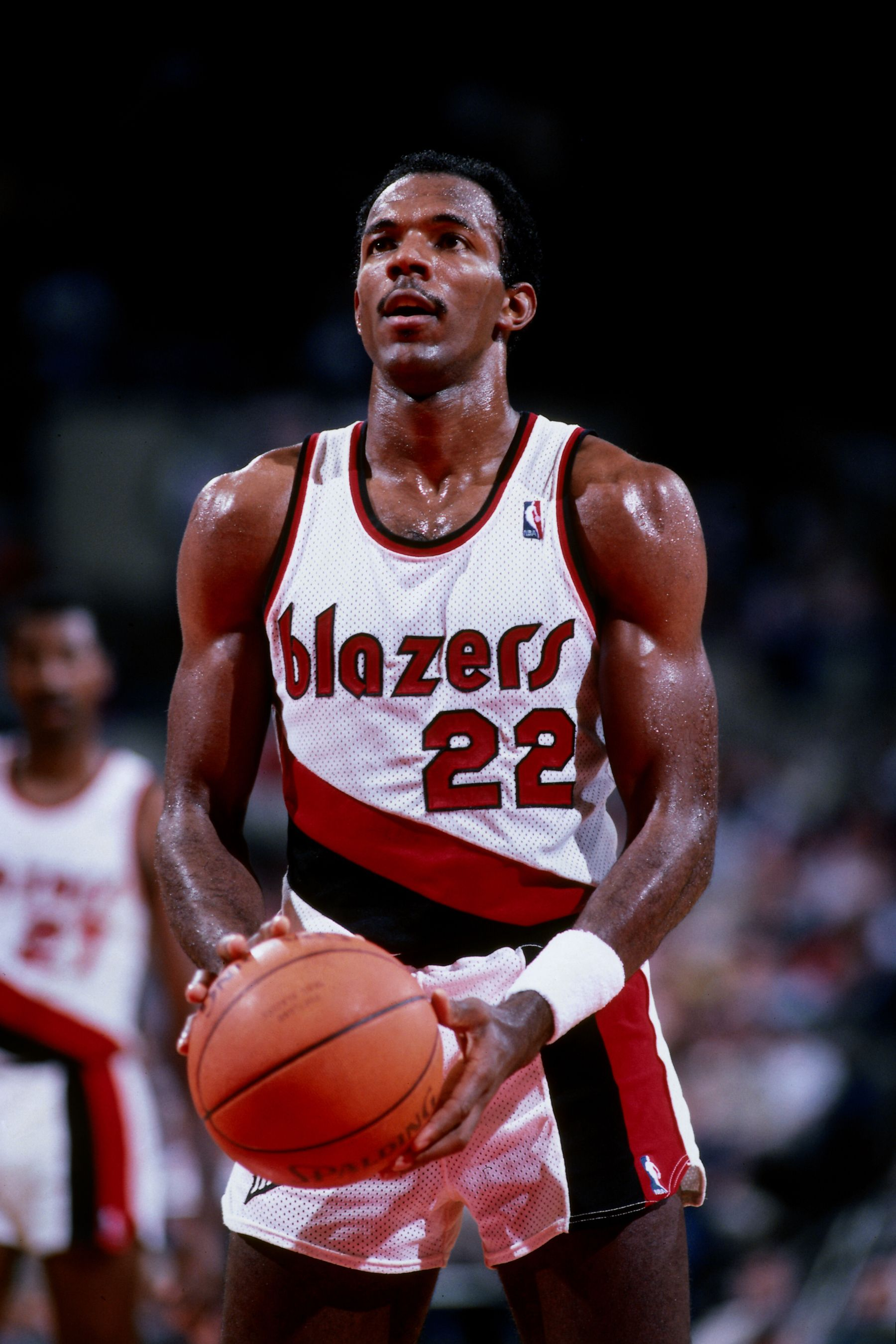 Clyde The Glide Drexler A Ten Time All Star And Member Of The Basketball Hall Of Fame The Nba Named Him One Of Basketball S Shooting Guard Nba Nba Legends