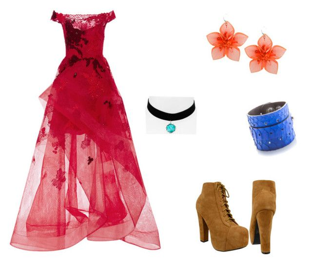 """Azura at the coranation"" by cloudysky321 ❤ liked on Polyvore featuring Monique Lhuillier, Dsquared2 and Topshop"