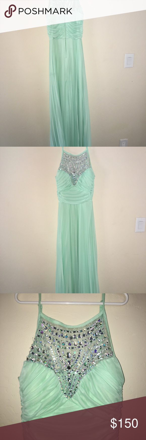 Teal prom dress size perfect condition teal prom and dress prom