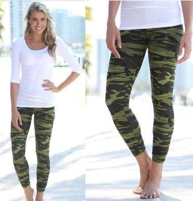 6c1087d3b92d7 Hot Women Camouflage Skinny Jeggings Stretch Slim Leggings Pencil Pants  Trousers