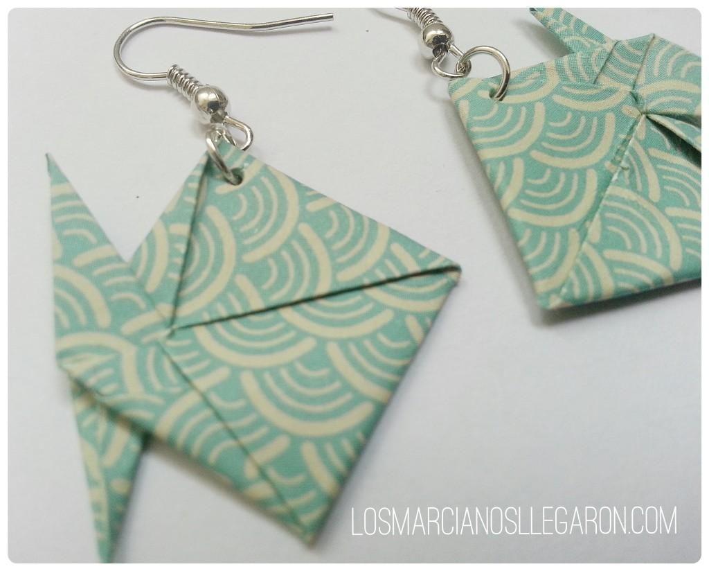Aretes con origami