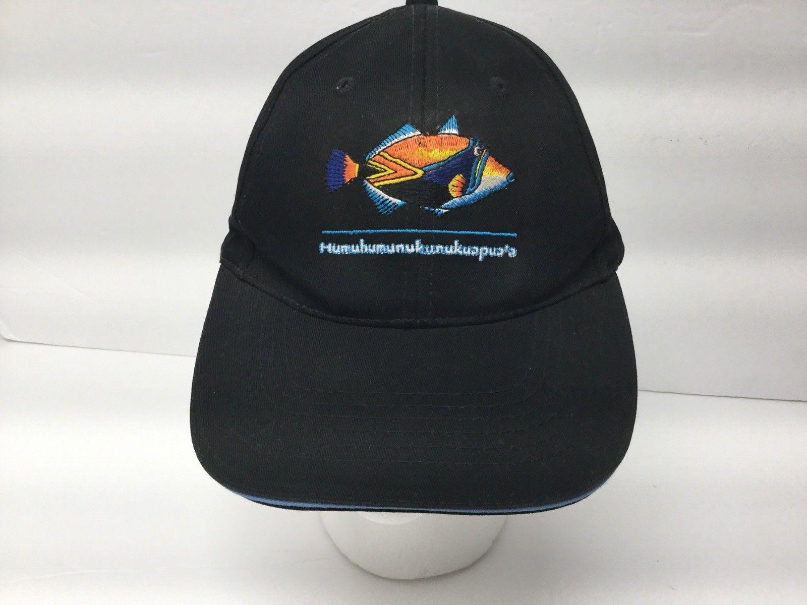 big sale bf084 6d925 Hawaii Triggerfish Tropical State Fish Humuhumunukunukuapua a Black  Snapback Hat   eBay