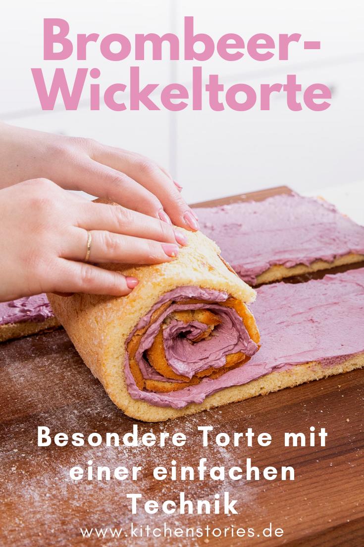 Brombeer-Wickeltorte | Rezept mit Video | Kitchen Stories