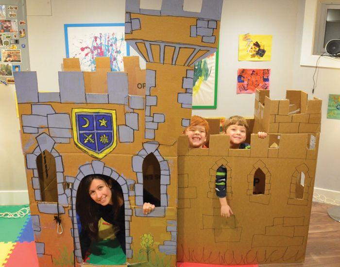 Faça Você Mesmo Castelo De Papelão Actividades De Creche 1 Ano