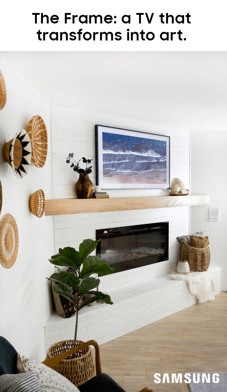 The Frame Tv Complements Any Room S Decor With Interchangeable