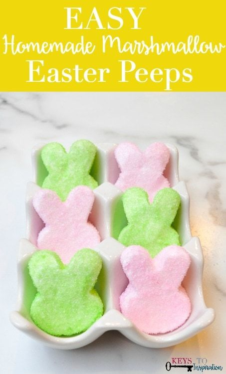 Easy Homemade Marshmallow Easter Peeps » Christene Holder