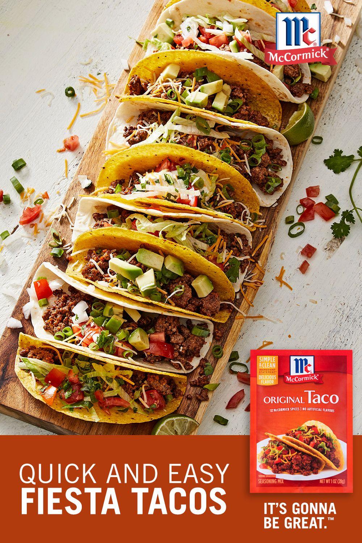 Quick And Easy Tacos Recipe Recipe Mexican Food Recipes Food Recipes