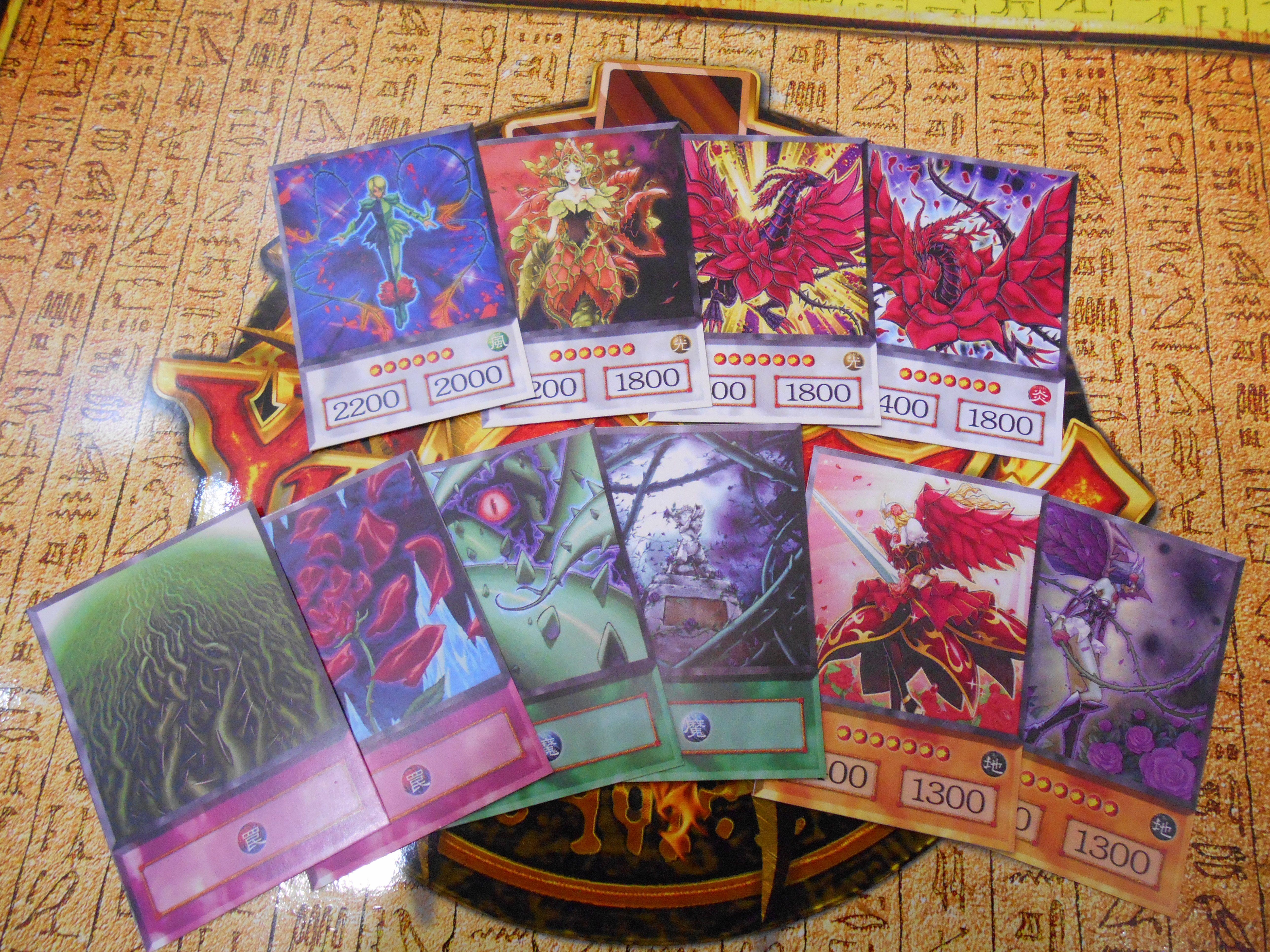 Akiza izinski deck anime orica yugioh etsy printed cards