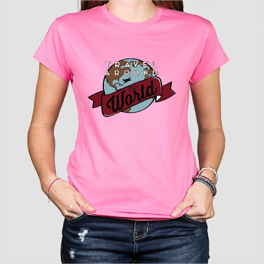 T-shirt that will inspire you to travel around the world! A nice design for every one with #wanderlust! #tshirts #travel