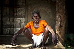 Baiga chief - India (Steven Goethals) Tags: travel portrait people india man asia chief culture tribal indie tradition tribe ethnic minority inde chattisgarh chhattisgarh baiga stevengoethals