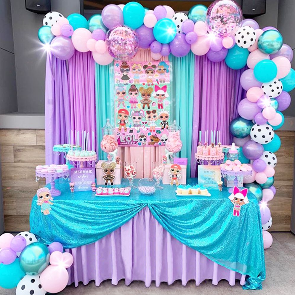 Lol Surprise Birthday Dessert Table By Sandyscandybars Pastel Pink Purple And Birthday Party Table Decorations Dessert Table Birthday Purple Birthday Party