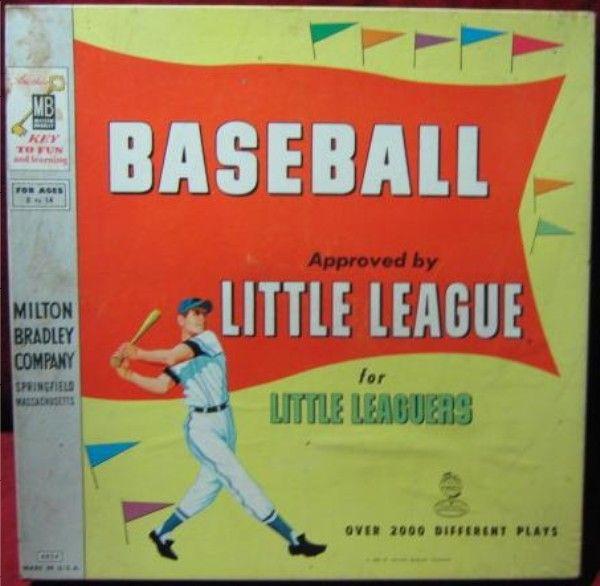 Milton Bradley 1958 Baseball Little Leaguers Game Vintage Games Baseball Little League Little League Baseball