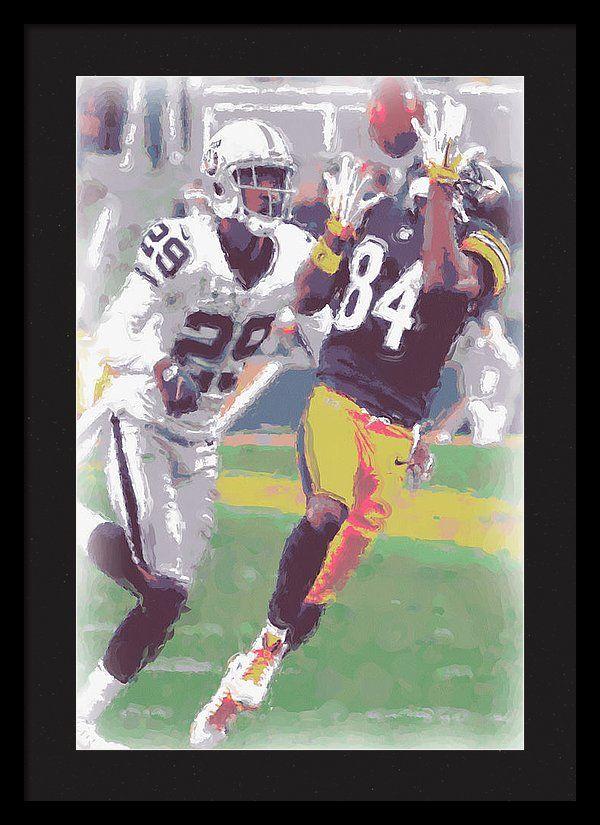 Pittsburgh Steelers Antonio Brown 1 Framed Print by Joe Hamilton