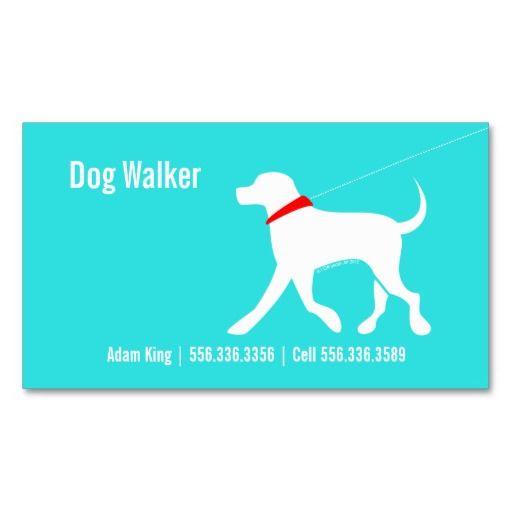 Dog Walker Pet Business Lab Modern Coastal Business Cards Carta