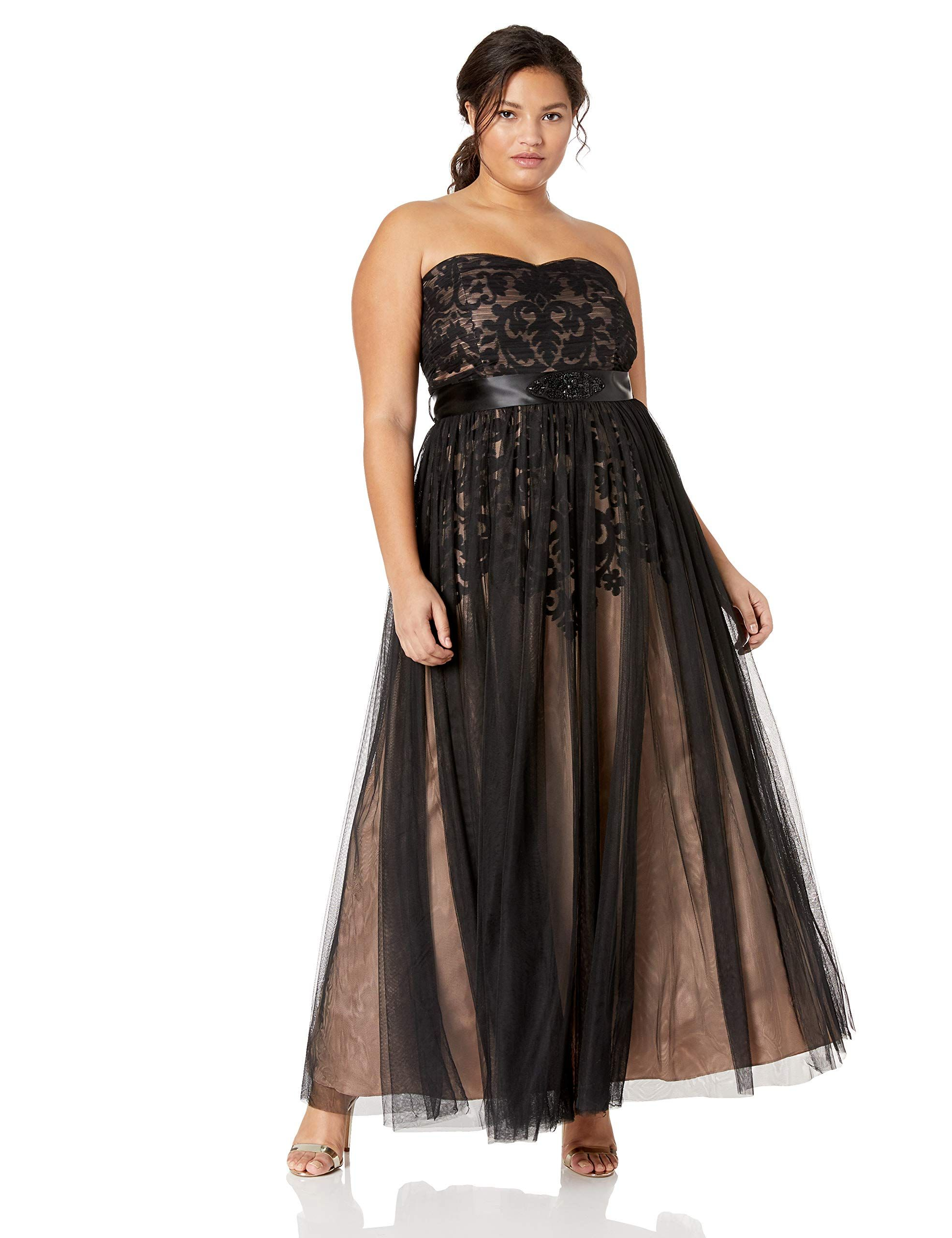 0a3eb7267e City Chic Womens Apparel Womens Plus Size Formal Maxi Dress with Sweetheart  Neckline in Tulle Black 22 -- Be sure to check out this awesome ...
