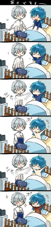Aww ^-^ Clear, Aoba, Ren