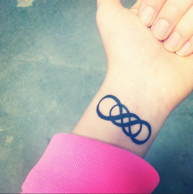 My Double Infinity Tattoo Inked Pinterest Double Infinity