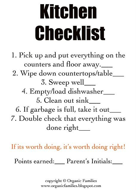 Tips, chores \ printables \/\/ Getting the kids to help me! Yay - babysitter duties