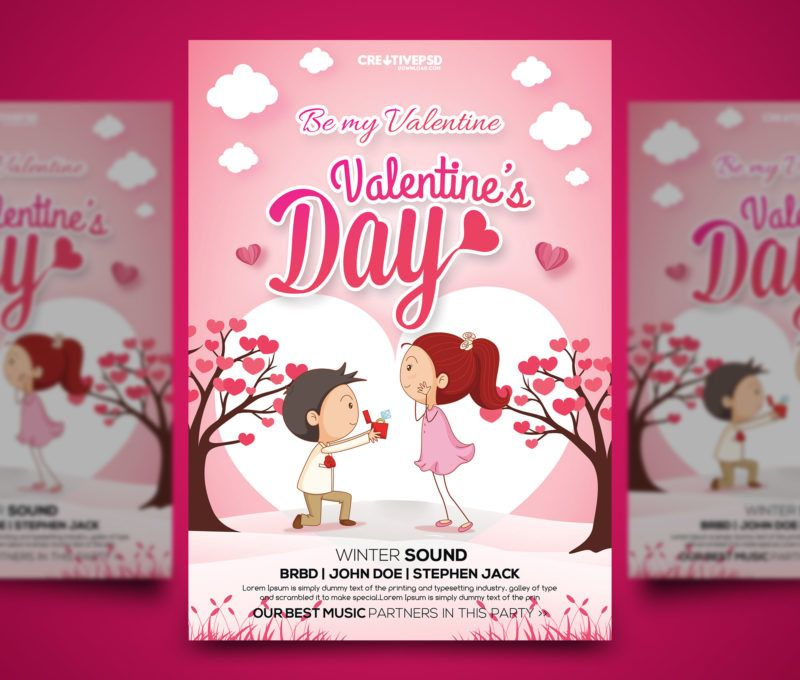 Valentine Flyer Template Free Valentine Psd Template Free Ladies