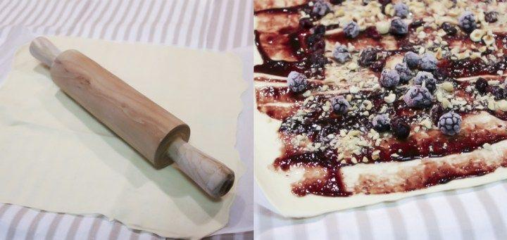 Post: Lazo de hojaldre relleno de confitura de mora --> estilismo de postres, Lazo de hojaldre relleno de confitura de mora, lazo hojaldre casero, postres con mermelada, postres rápidos fáciles, recetas de hojaldre, recetas faciles, recetas postres delikatissen