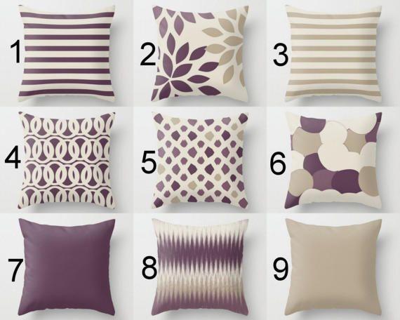 Outdoor Pillows Purple Grape Beige Pillows Outdoor Home