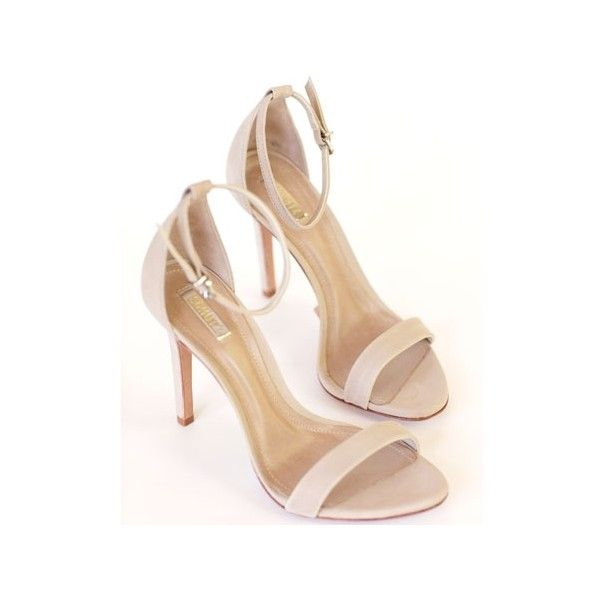 Schutz Oyster Cadey-Lee (620 BRL) ❤ liked on Polyvore featuring shoes, sandals, ankle tie sandals, strappy sandals, high heel sandals, leather sandals and nude sandals
