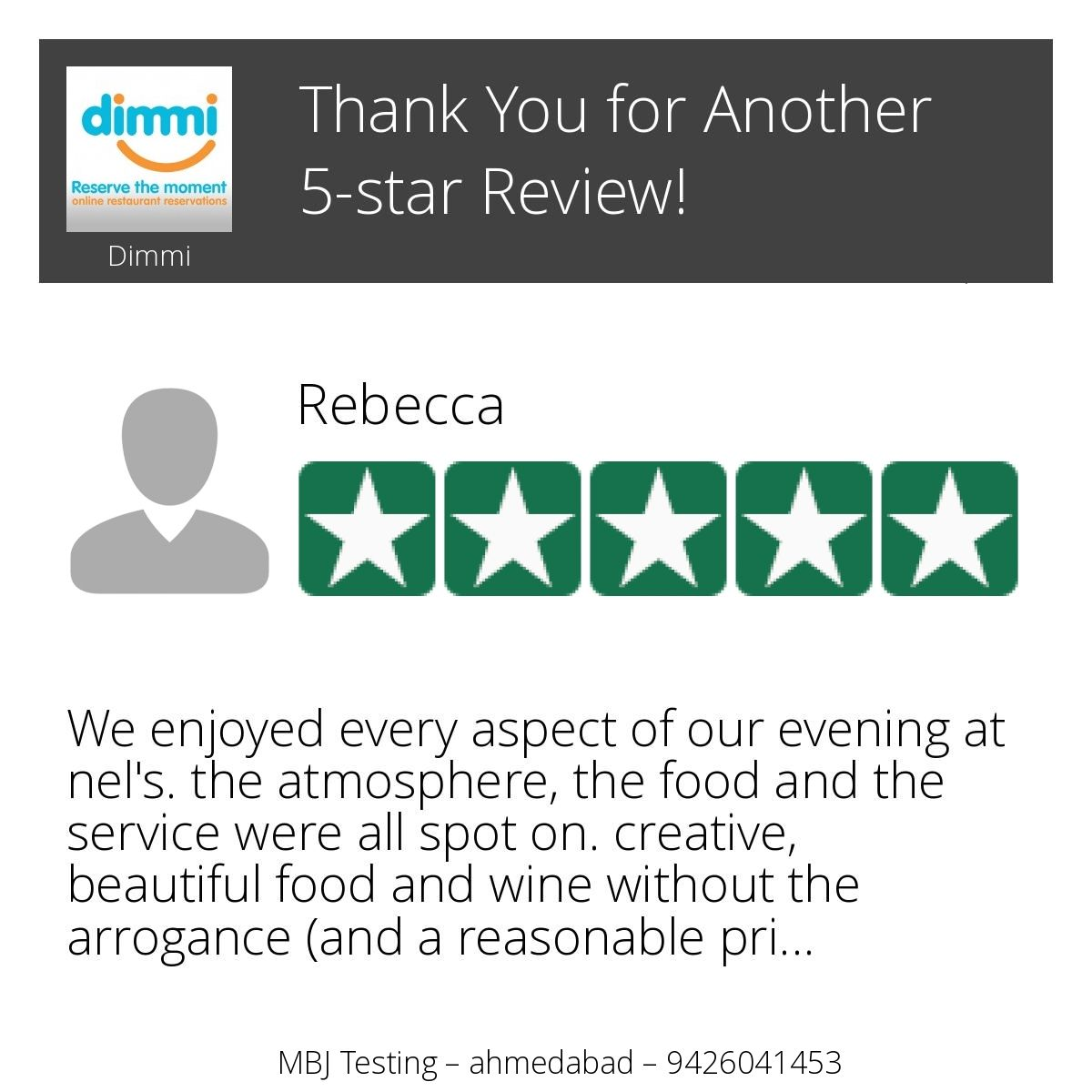 Wow! One of our customers just left on our Review Page a 5-star Review! Want to Review us too? Click or Tap here: https://hoy.cc/mh
