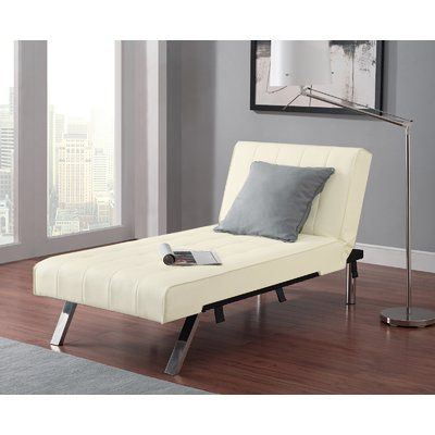 Wade Logan Littrell Convertible Chaise Lounge Upholstery