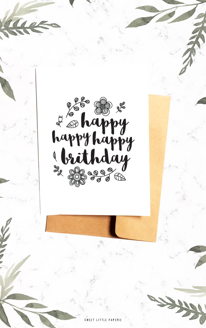 ahh! love this one | happy birthday card with envelope $3 ...