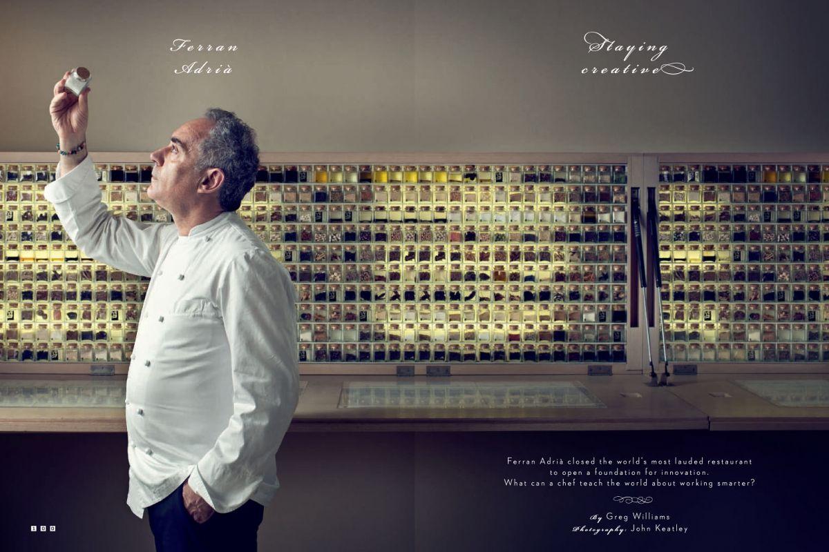 Ferran Adria for Wired UK by John Keatley Portretfotografie