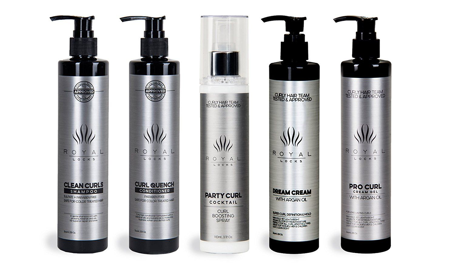 Complete Curly Hair Products Set by Royal Locks Two Curl Creams Curling Spray Sulfate and Paraben Free Shampoo and Conditioner * This is an Amazon Affiliate link. Want to know more, click on the image.