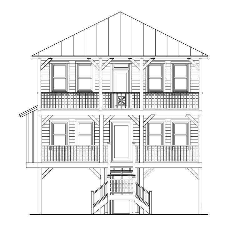Elevated Piling And Stilt House Plans Page 27 Of 55 Coastal House Plans From Coastal Home Plans House On Stilts Coastal House Plans Stilt House Plans