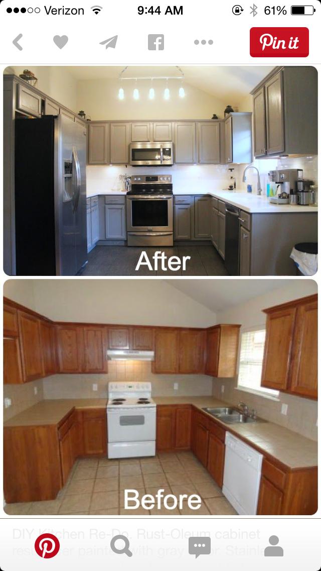 Painting Old Cabinets Kitchen Diy Makeover Kitchen Redo Diy Kitchen