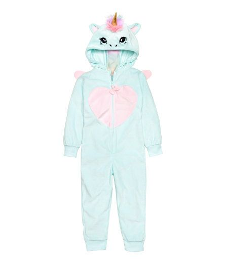 H/&M MASQUERADE Unicorn all in one jumpsuit Onesiey Pyjamas fancy dress costume