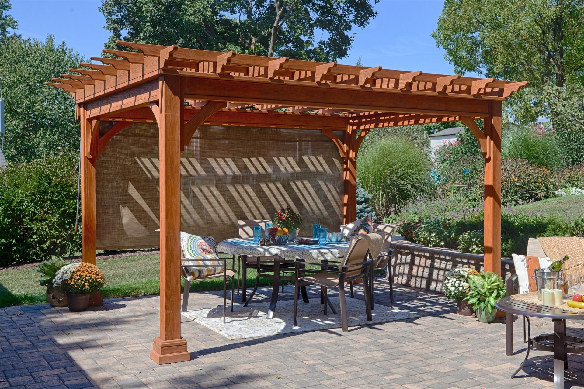 Amish Traditional Pine Pergola Kit Outdoor Pergola Pergola Patio Pergola Plans