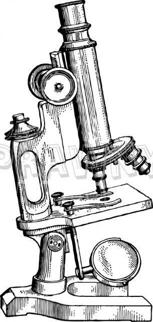 vintage science illustrations | Microscope - Vintage ...