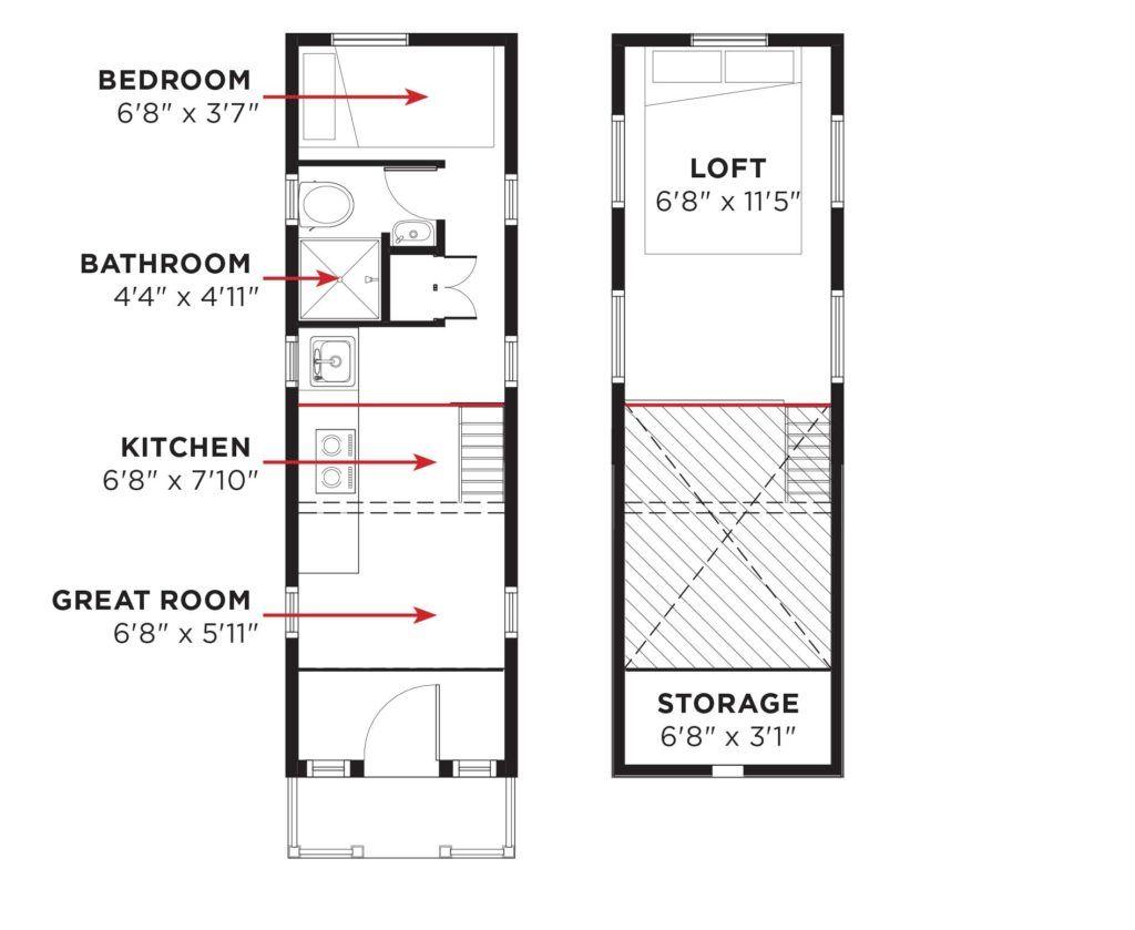 elm tiny house ground floor bedroom pinterest tumbleweed house tumbleweed tiny homes and. Black Bedroom Furniture Sets. Home Design Ideas