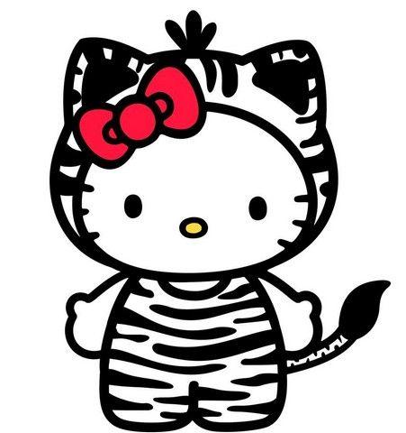 Hello Kitty Zebra By Loreenitta Clipart