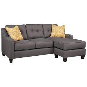 Benchcraft Aldie Nuvella Sofa Chaise | Contemporary sofa ...