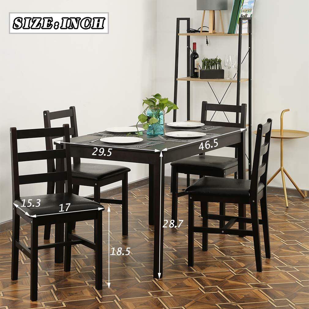 Fdw Dining Table Set Kitchen Dining Table Set Wood Table And Chairs Set Kitchen Table And C Table And Chair Sets Kitchen Table Settings Dining Table In Kitchen