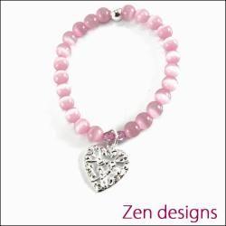 Zen Kids Bracelet. Pink Heart.