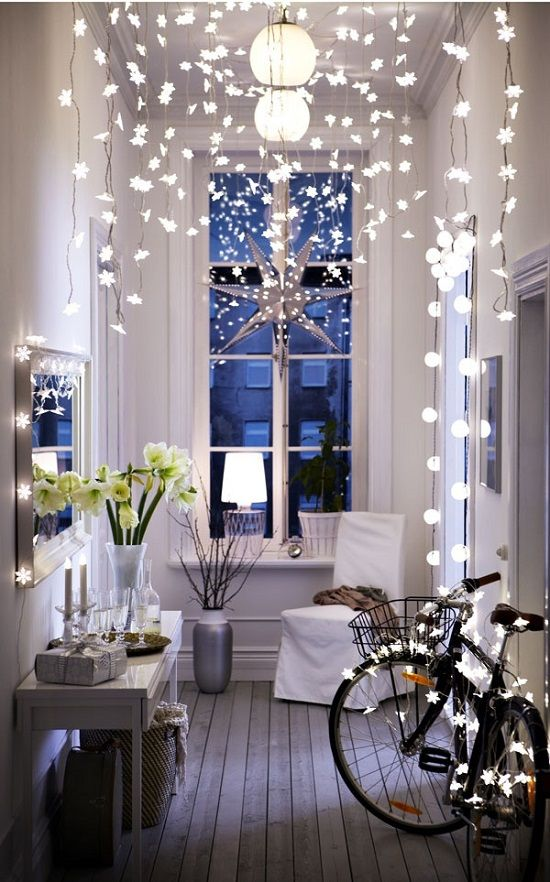 Top 10 Indoor Christmas Lights Ideas With Images Ikea Christmas Decor Ikea Hallway