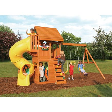 $949.99 SEARS Big Backyard By Solowave® U0027Grandviewu0027 Deluxe Play System 16L  X 7.3