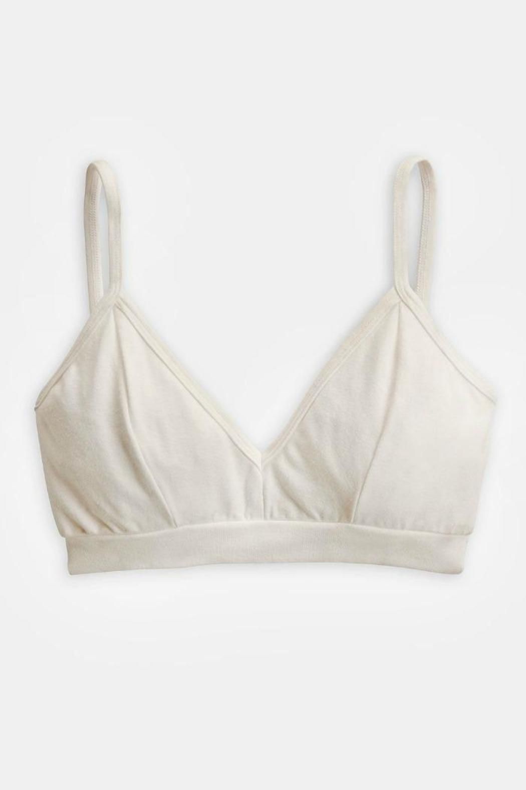 b160d041b6 Groceries Organic Cotton Bralette in Milk Cream. Wear this comfy organic  cotton bralette under all your shirts and dresses this Spring and Summer!
