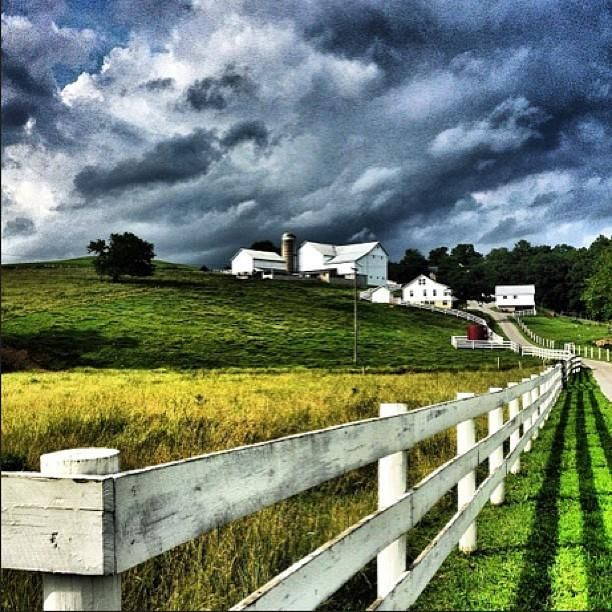 Beautiful landscape in Amish country near Berlin, Ohio, from Instagram follower @kirby_124.