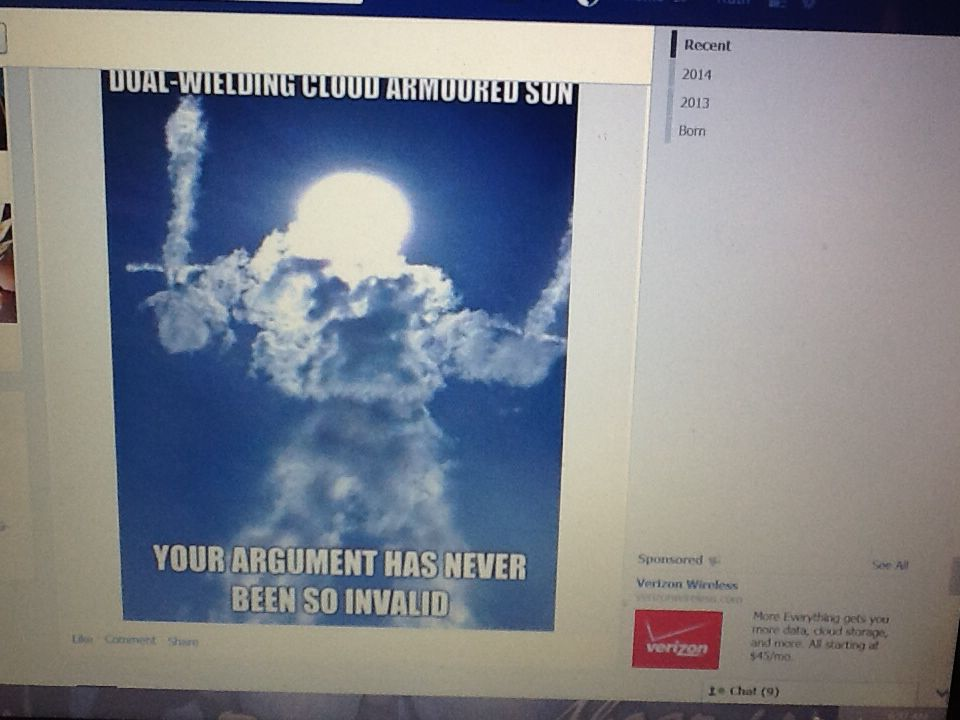 Dual welding cloud armored sun ur arguments never been so invalid