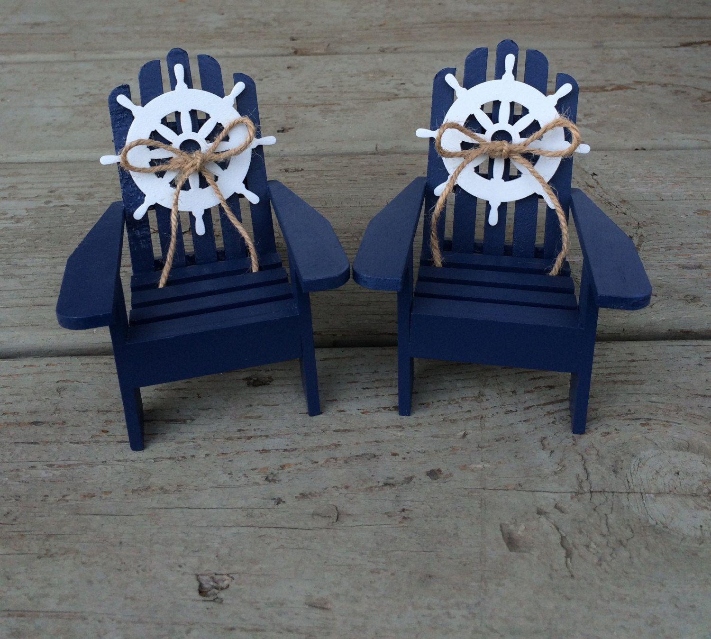 adirondack chair photo frame favors tall kitchen chairs nautical beach wedding cake topper mini
