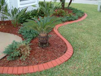 Red brick landscape edging google search gardening for Red brick garden